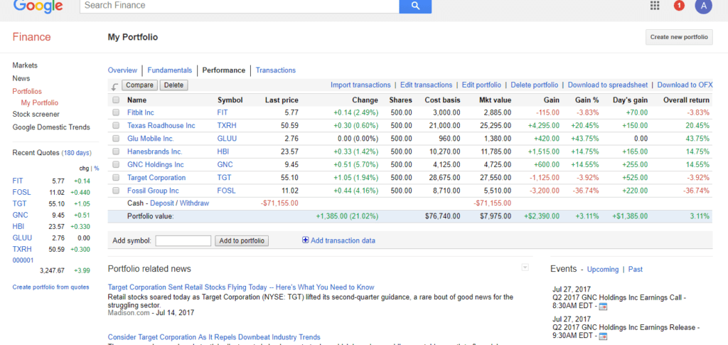 google finance financial education