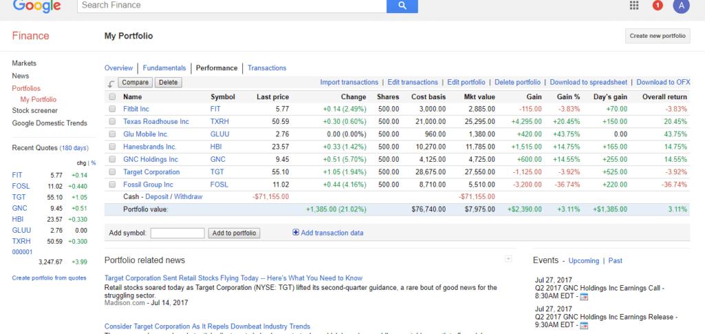 google finance financial education