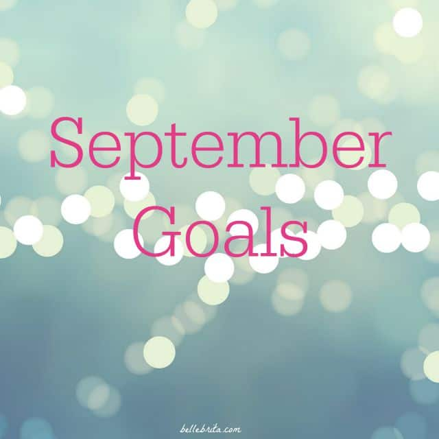 september goals projects