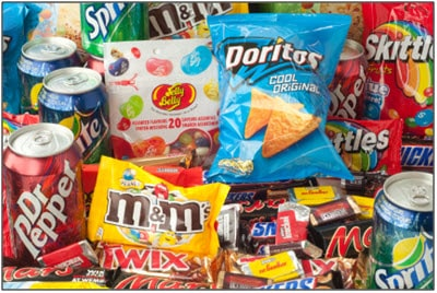 unhealthy snacks money management habits