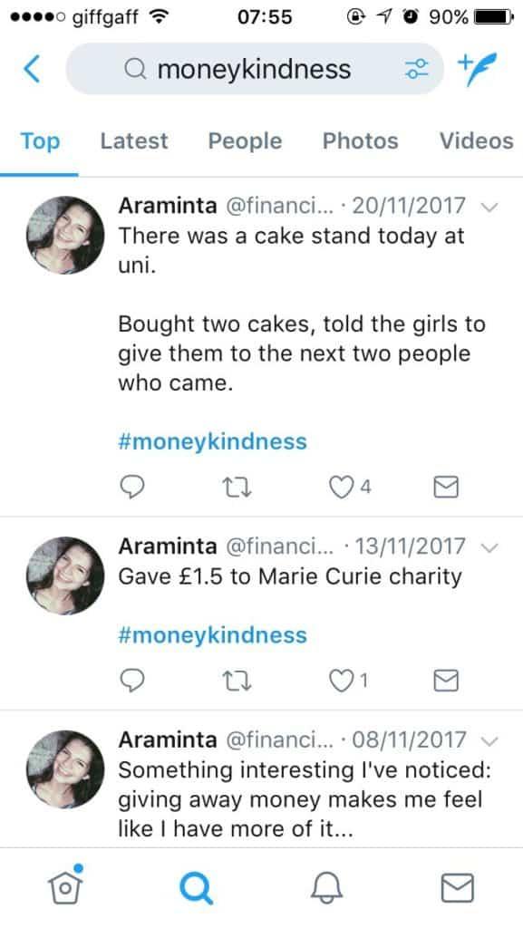 twitter thread giving £1