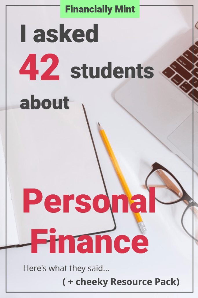 pinterest students personal finance resource pack