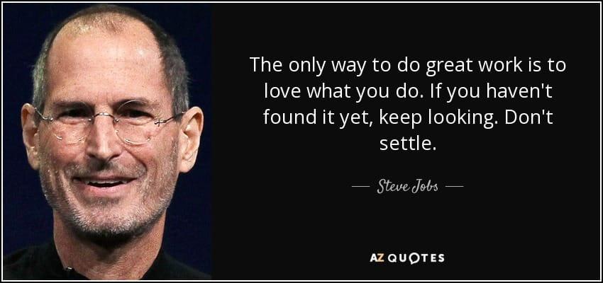 steve jobs study what you love