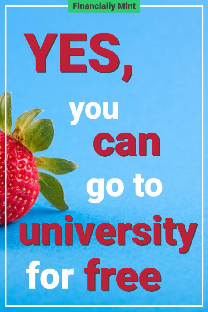 university for free